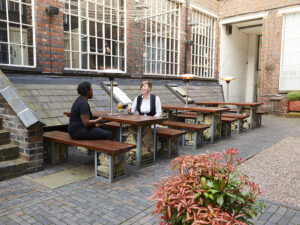 The Rectory - outside tables