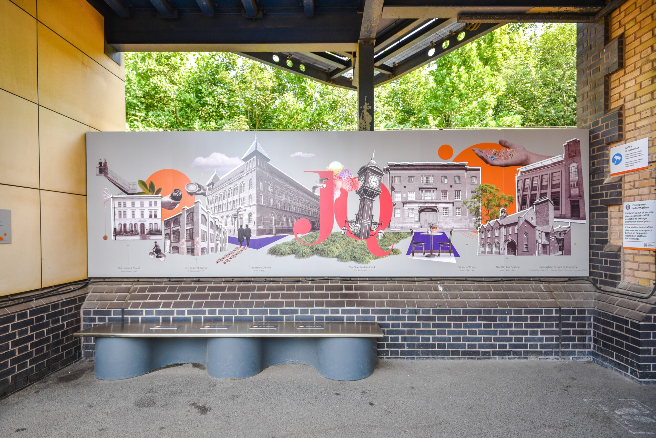 The artwork was commissioned by the JQTH as part of the JQBID's Adopt a Station project
