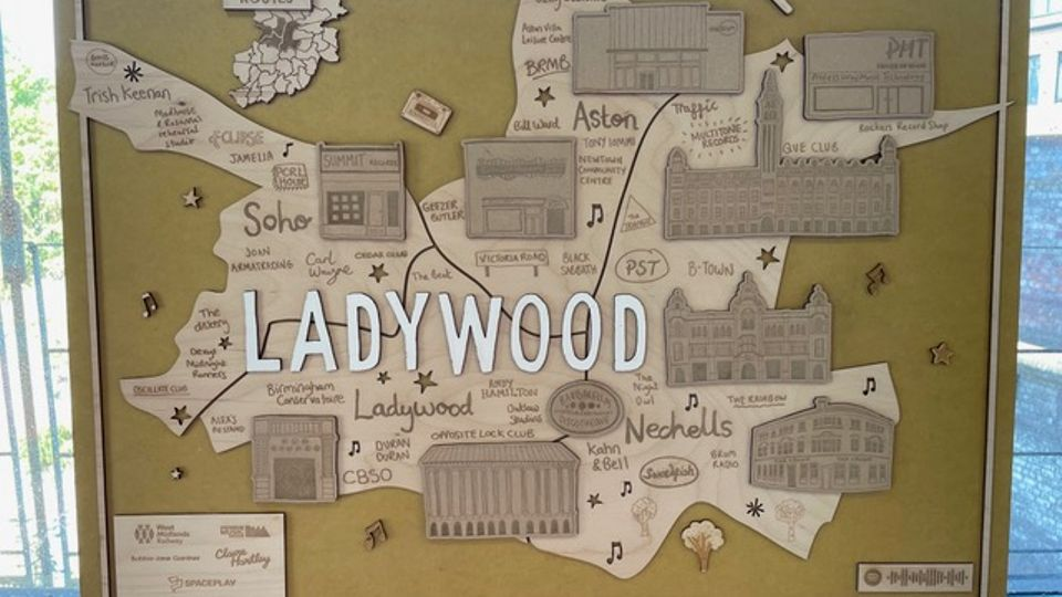 The Ladywood station map to be fitted inside Jewellery Quarter station